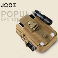JOOZ Waist Belt Bag Wallet outside Molle Waist Bags Men's casual Casual Waist Pack Purse Mobile Phone Case for Phone