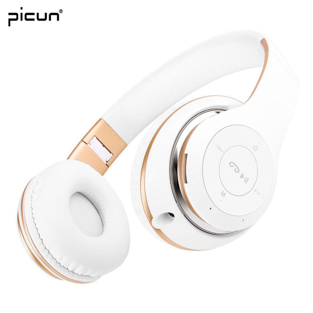 bilder für Picun BT-09 Drahtlose Headsets Stereo Bluetooth Kopfhörer Faltbare mit Mikrofon Tf-karte FM Radio für iPhone Samsung