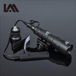 Lambul Тактический M300 M300B мини-светильник для разведчика, наружный винтовочный охотничий флэш-светильник, 400 люмен, оружейный светильник свето...