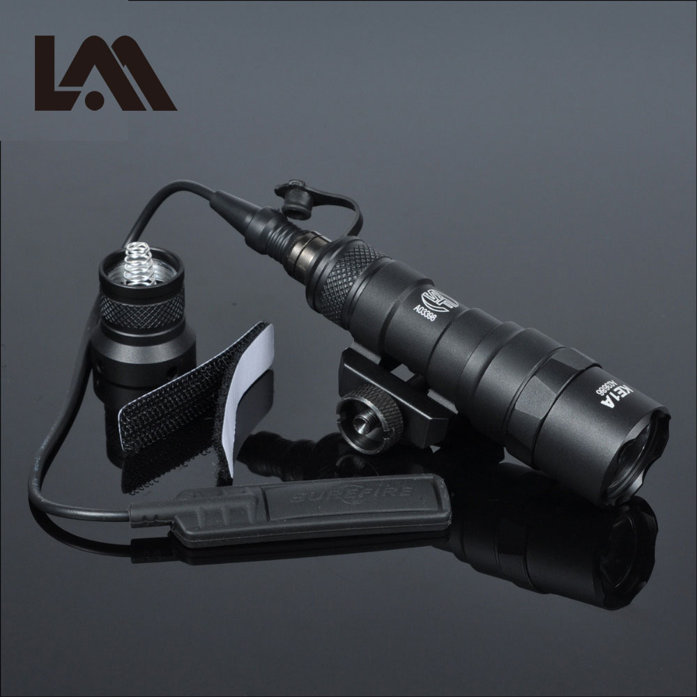 Lambul Tactical M300 M300B MINI Scout Light Outdoor Rifle Hunting Flashlight 400 lumen Weapon Light LED Lanterna Fit 20mm Rail tactical flashlight with tail switch m300b mini scout light new version light black de