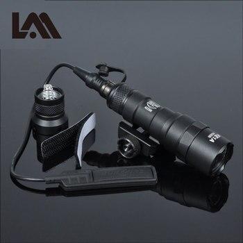 MINI Luz de explorador táctico M300 M300B, linterna para Rifle de exterior, caza, arma militar, LED, linterna para Arme, Riel de 20mm