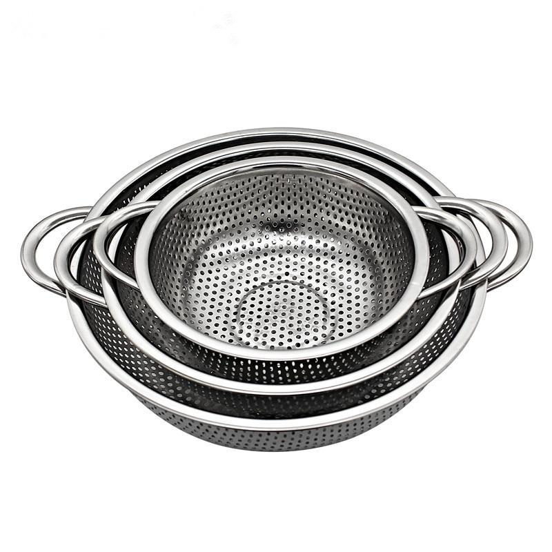 stainless Steel Colander Kitchen Strainer With Handles