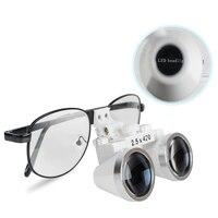 Black Frame Dental Magnifier Dentist Dental Surgical Medical Binocular Loupes 2.5X 420mm Optical Glass Loupe