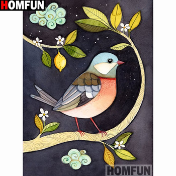 HOMFUN Full Square/Round Drill 5D DIY Diamond Painting Cartoon bird 3D Embroidery Cross Stitch 5D Home Decor A14976 dispaint full square round drill 5d diy diamond painting teacup bird scenery 3d embroidery cross stitch 5d home decor a18408