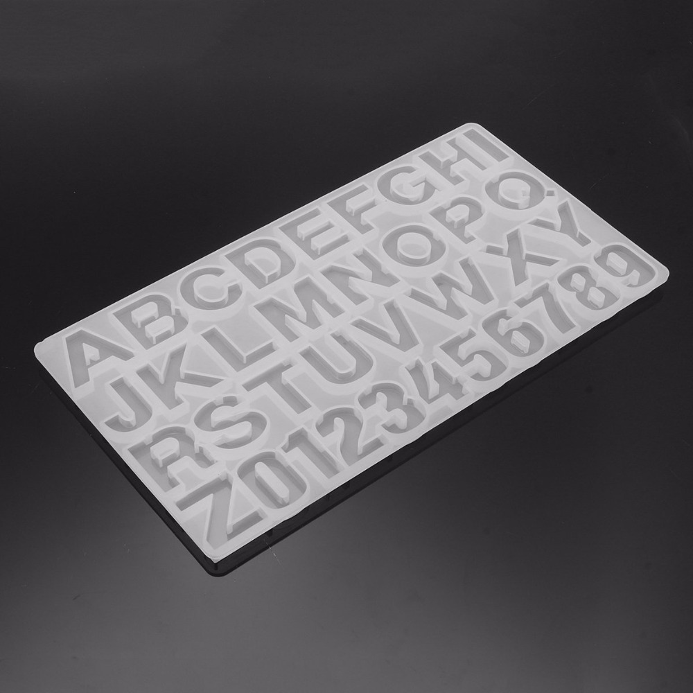 Double One Letter Number Silicone Jewelry Pendant Mold Resin Casting Mould Jewelry DIY Making Craft Tool
