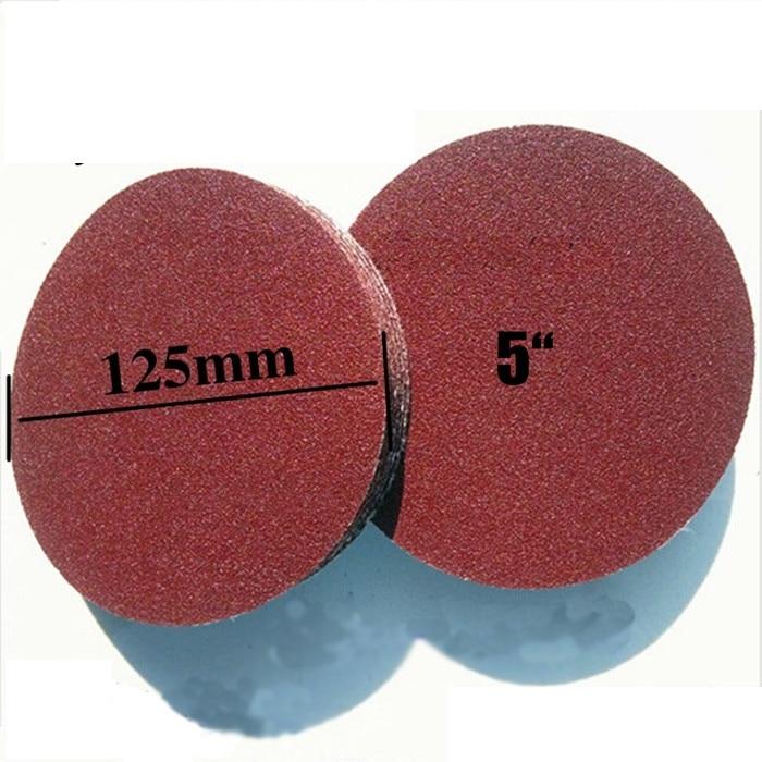 10pcs-5 Inch(125 Mm) 1000 Sandpaper Angle Grinder Disk Polished  Sandpaper  Dry Abrasive Paper Back Velvet