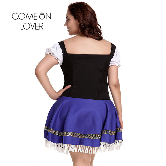Comeonlover German Beer Girl Costume Dress Plus Size 7XL Maid Lingerie Costume Sexy Femme Cosplay Halloween Fancy Dress CI80705 2