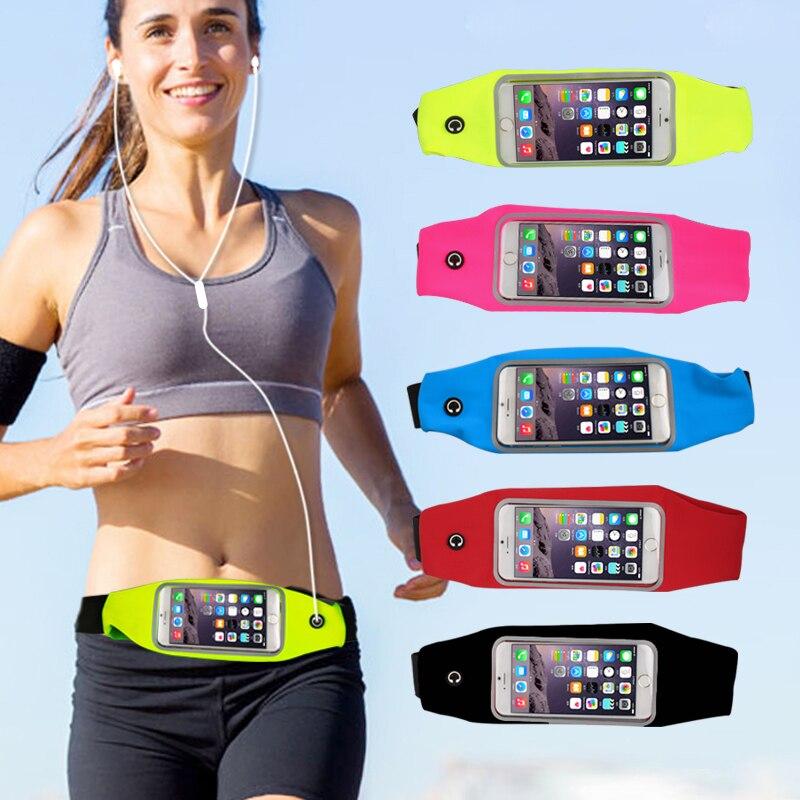 Hstrade Открытый Спорт GYM талии чехол для телефона iPhone 6 6 S для iPhone 7 Plus держателя карты отверстие для наушников ремень Бег кошелек Сумки