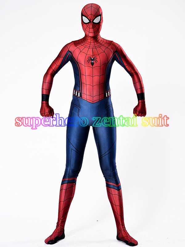 Perang Sivil Spiderman Costume 3D Shade Spandex Allbody Halloween - Kostum karnival