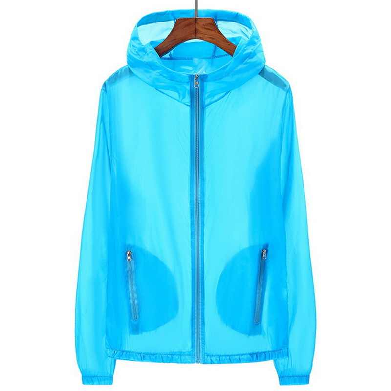 Puimentiua Unisex Uv Zon Bescherming Jassen Kleding Transparante Lange Mouw Truien Shirt Beachwear Zonnebrandcrème Cover-