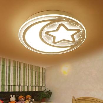 Moderne stern mond FÜHRTE deckenleuchten schlafzimmer licht ...