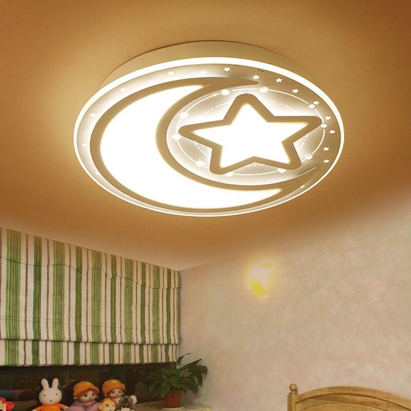 US $175.0 |Moderne stern mond FÜHRTE deckenleuchten schlafzimmer licht  runde kinderzimmer mädchen deckenleuchte studie balkon esszimmer ZA82440-in  ...