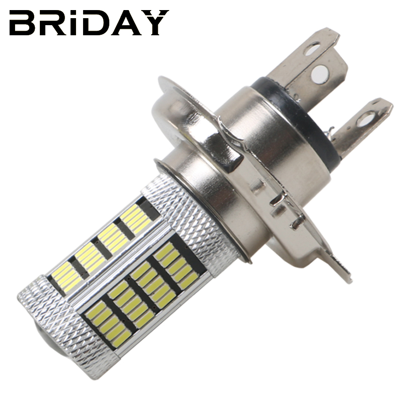 BRIDAY New 2pcs H4 4014 92smd Fog Lights Car LED Lights Daytime Running Light Auto fog Lamp Bulbs led lights car-styling DC 12V new arrival a pair 10w pure white 5630 3 smd led eagle eye lamp car back up daytime running fog light bulb 120lumen 18mm dc12v