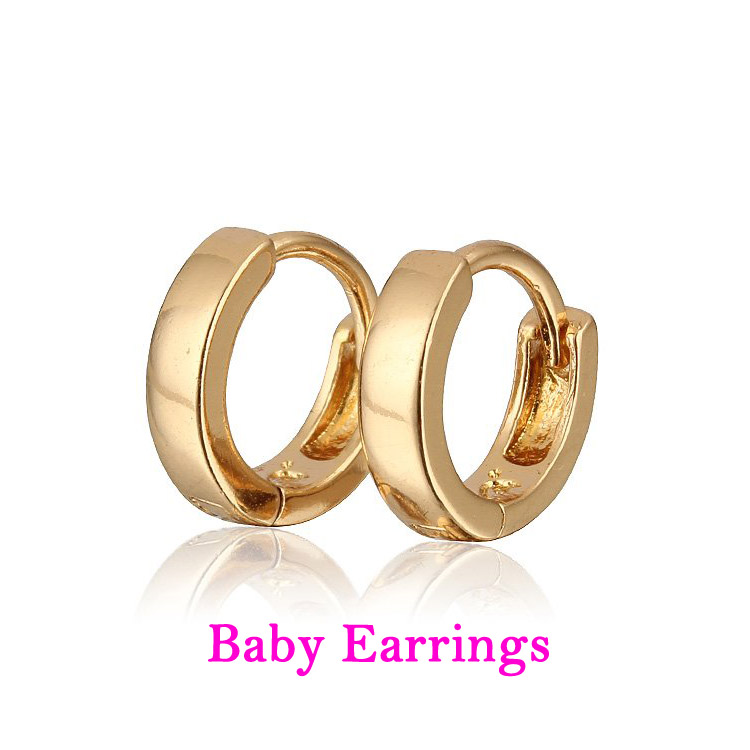 Online 10 Pair Children Hoop Earrings For Kids Brinco Ouro Boucle D Oreille Bebe Cuff Earring Baby Ohrringe Jewelry E1582 Aliexpress