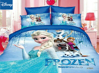 Frozen Elsa and Anna Princess bedding set twin size bed sheets duvet covers for girls room single bedspread coverlets 3d hotsale