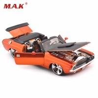 1:24 1970 Challenger R/T Оранжевый литья под давлением модель Форсаж характер автомобиля без свет и звук автомобиль дети игрушки