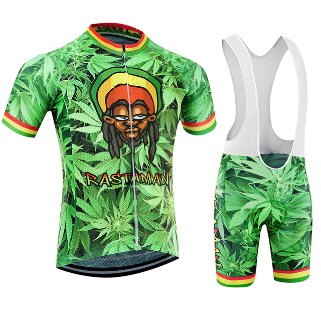 34227540b Rastaman 420 4 20 Men Bicycle kit Jersey + bibs kits Road Track MTB Race  Cut Aero Cycling Italian Clothing Quick Dry for Weed-in Cycling Jerseys  from Sports ...