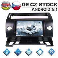 Two Din Android 8.1 Car Radio for Citroen C4 Quatre Triumph 2004 2012 GPS Navigation CD DVD Player IPS Screen Bluetooth Unit
