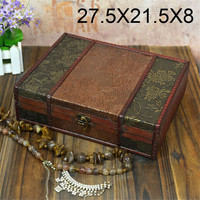 Classic Vintage Wooden Storage Box Wooden Box Restoring Ancient Sweet Jewelry Box Organizer Treasure Chest Case Wood Miniatures