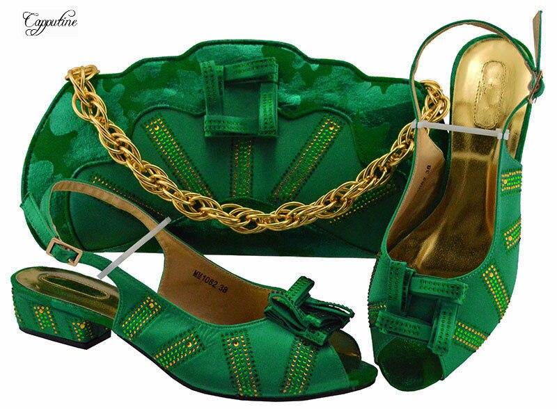 Mm1082 Zapatos 5 Medio Verde Bolso Conjuntos Maravilloso Del Tacón Y AgdBqBpy