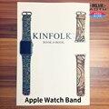 Apple watch strap 38mm 42mm apple watch relógio de pulso de couro de bezerro estilo étnico cinta iwatch lady banda mulher retro + adaptadores + ferramenta
