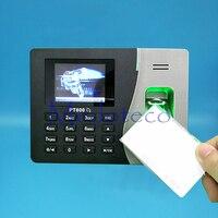 TCP Biométrico Do Comparecimento Do Tempo da Impressão Digital + Leitor de Cartão de 125 Khz ID Comparecimento Do Empregado Eletrônico com Leitor de Impressão Digital