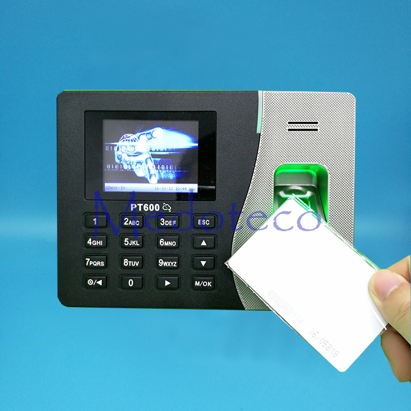 TCP/IP Biometric Fingerprint Time Attendance + 125Khz ID Card Reader Employee Electronic Attendance with Fingerprint Reader