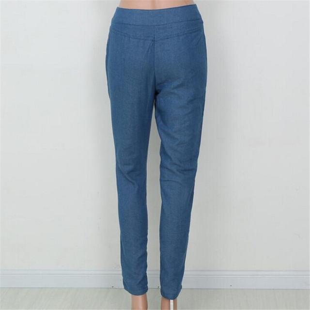 2018 Denim Jeans Pants Women Button Big Hole Ripped Designer Jean Woman Trousers Vintage Spring Summer Capris Pencil Pants K103