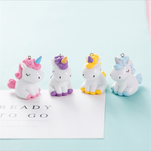 Creative Unicorn Silicone Doll Small Gift DIY Keychain Hanging Chain Backpack Car Accessories