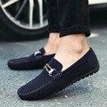 Mocasines Para Hombre Zapatos de Marca de Lujo Hombres Mocasín Zapatos de Los Planos de Deslizamiento En Los Zapatos de Cuero Para Los Hombres de Los Holgazanes 2016 Zapatos Hombre ZNPNXN