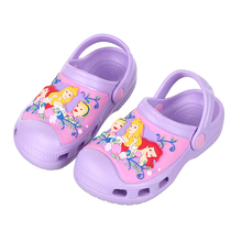Mntrerm 2017 New Kids Mule And Clogs High Quality Glowing Clogs Children Fashion Cartoon Garden Shoes Hot Beach Sandals Slippers