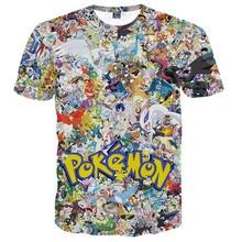 Anime Pokemon Star Wars t-shirts Casual 3D t shirts Tee Shirts