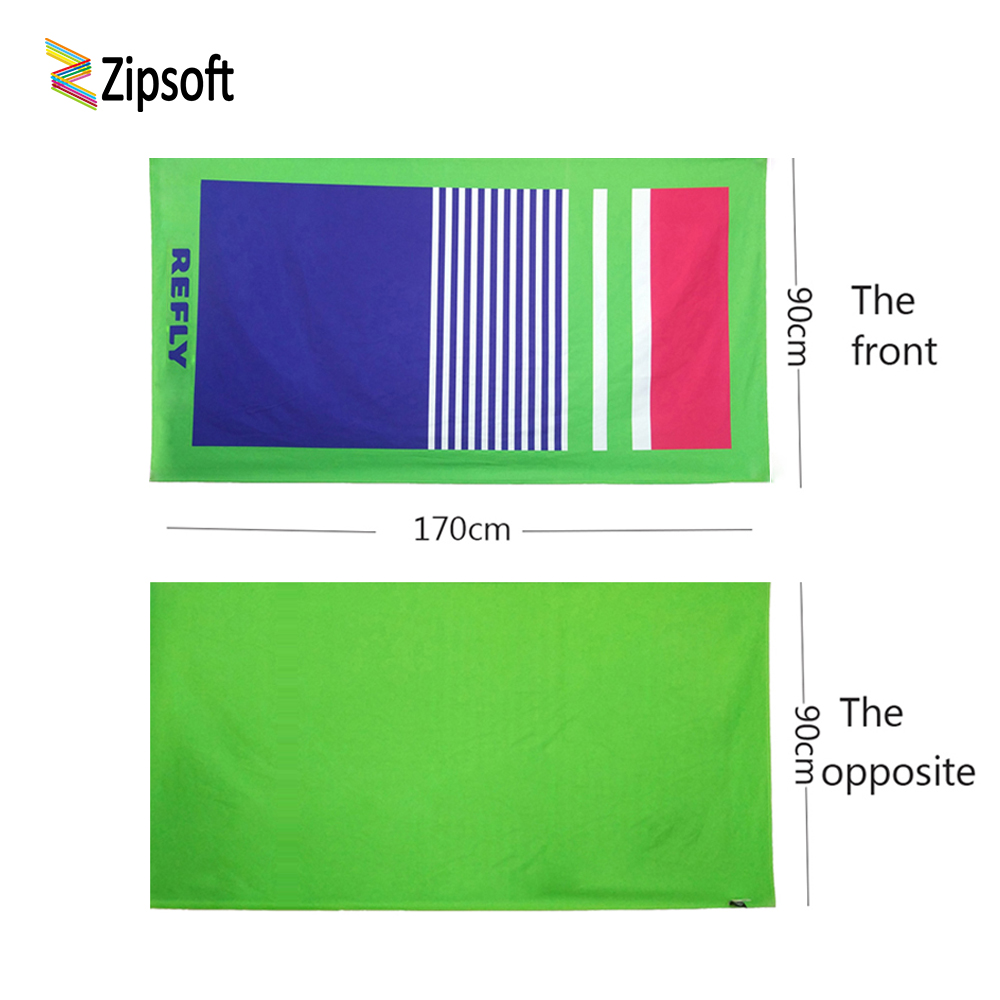 Zipsoft large Beach towel Christmas gift Microfiber 90cm*170cm travel Pool towel antibacterial quick dry water absorbent