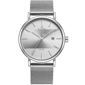 Image 5 - Men Watch Top Brand NAVIFORCE Stainless Steel Mesh Quartz Men's Watches Waterproof Date Business Wristwatch Relogio Masculino