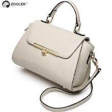 2017 ZOOLER BRAND Genuine Leather bag woman Handbags ladies Shoulder bags OL Style cowhide women bag simple luxury brand #8128
