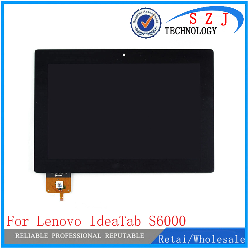 New 10.1'' inch case For Lenovo IdeaTab S6000 Full LCD Display Panel Monitor with Touch Screen Digitizer Glass Assembly +Frame for new lcd display touch screen with frame assembly replacement lenovo ideatab a3000 7 inch black white free shipping