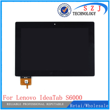 """Neue 10,1 """"zoll fall Für Lenovo IdeaTab S6000 S6000-H Voll LCD Display Monitor mit Touchscreen Digitizer Glass Assembly + rahmen"""