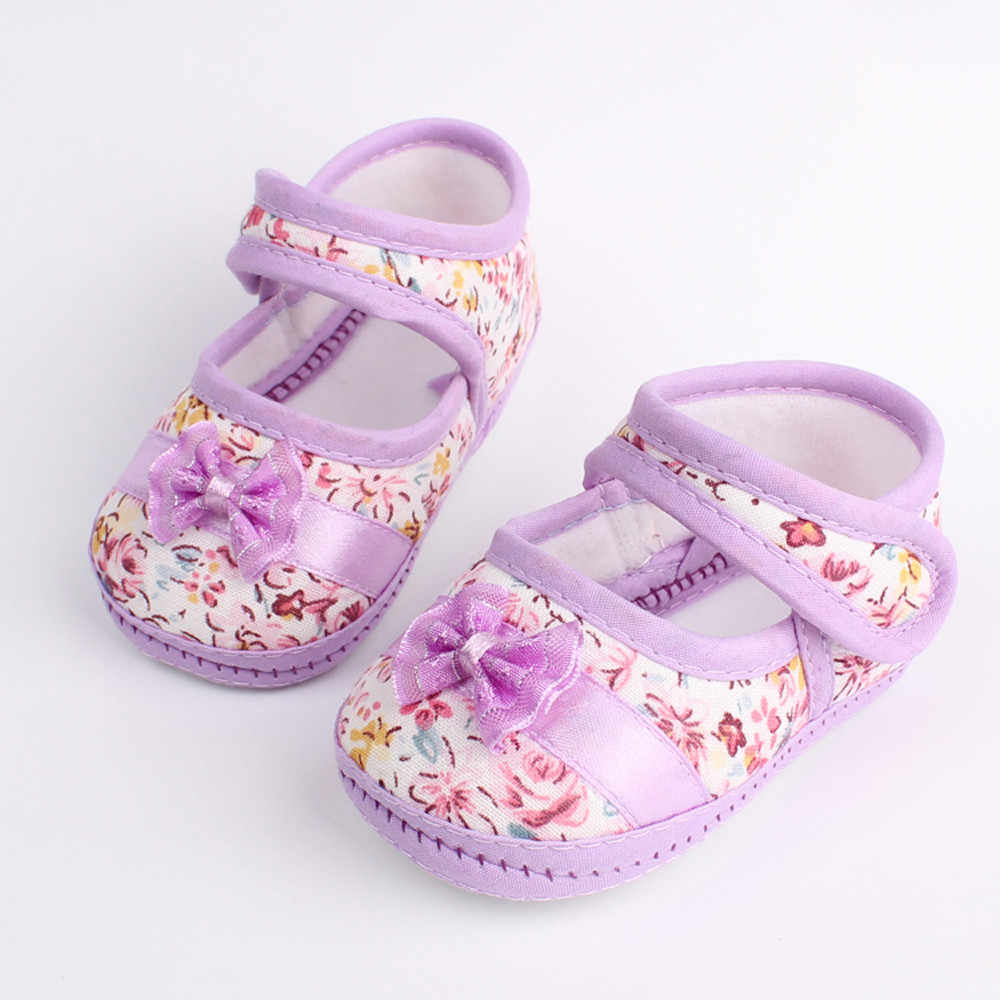 Winter Baby Girl Shoes Soft Sole Bowknot Print Anti-slip Casual Shoes Toddler Booties Prewalker First Walkers  2019 New Classic