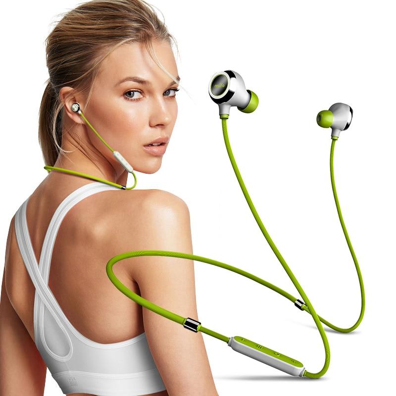 Magnetic Neckband fone de Ouvido Sem Fio Bluetooth Estéreo Música Headset Fones de Ouvido Do Esporte Treino Attracs Ímã de Carregamento do Fone de ouvido de Alta Fidelidade