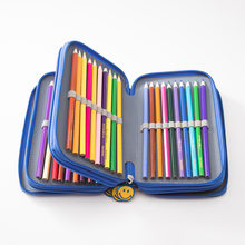 School Pencil Case 72 Holes 4 Layers Penal Pencilcase Kawaii Cute Smile Large Pen Bag for Boy Girls Stationery Box Pouch Handbag(China)