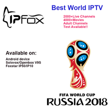 2018 código IPFOX IPTV conta usada em FOXSTAR IP50 IP10 Android V9S canais de caixa com IPFOX Árabe Francês Espanha REINO UNIDO EUA para 12 mo