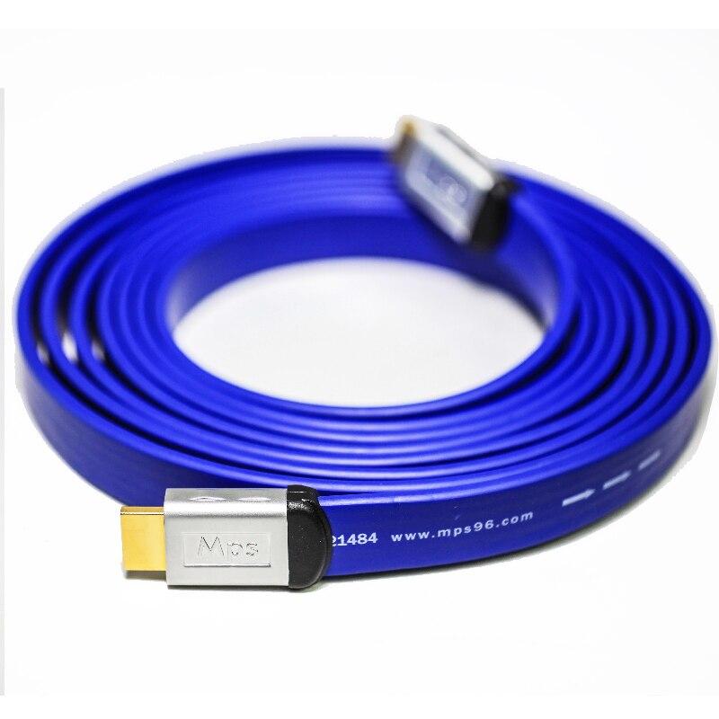 Hifi mps hd-280 hifi 5n ofc + argent plaqué or plaqué plug hdmi 2.0 3D 24AWG 4 K X 2 K Audio Retour Ethernet 3840x2160 p 4096x2160 p