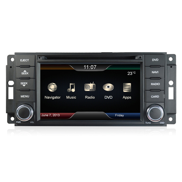 Car DVD Stereo GPS Navi Headunit For Jeep Dodge Wrangler Liberty Chrysler  300C WIFI Free Camera