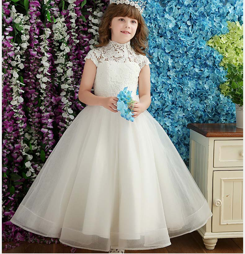 lace Girls dresses, summer sleeveless princess Hollow clothing, kids party tutu clothes, retail ,1BC506DS-34R [Eleven Story]