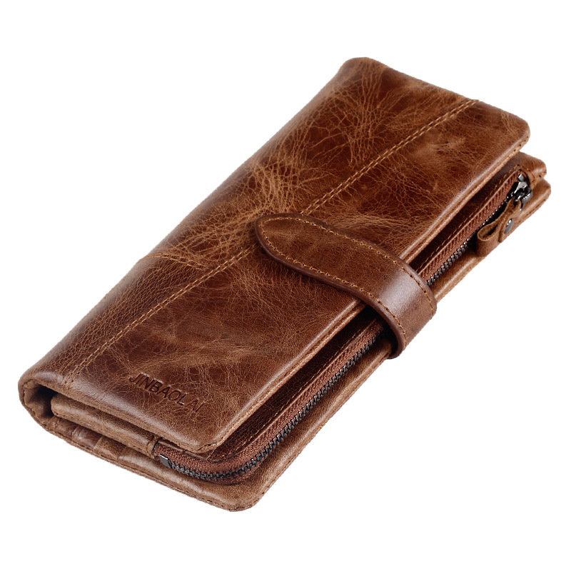 2017 New Men Wallet Top Genuine Leather Zipper Coin Pocket Long Male Clutch Bags Man Purse Brand Quality Hand Bag Drop Shipping  new sale fashion genuine leather business trends men purse top quality wallet coin pocket purse card free shipping