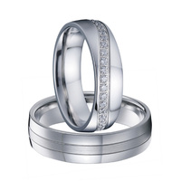 Forever Lovers Silver Color Wedding Band Set Couple Rings Pair Handmade Jewellery Cz Diamond Jewelry Ring