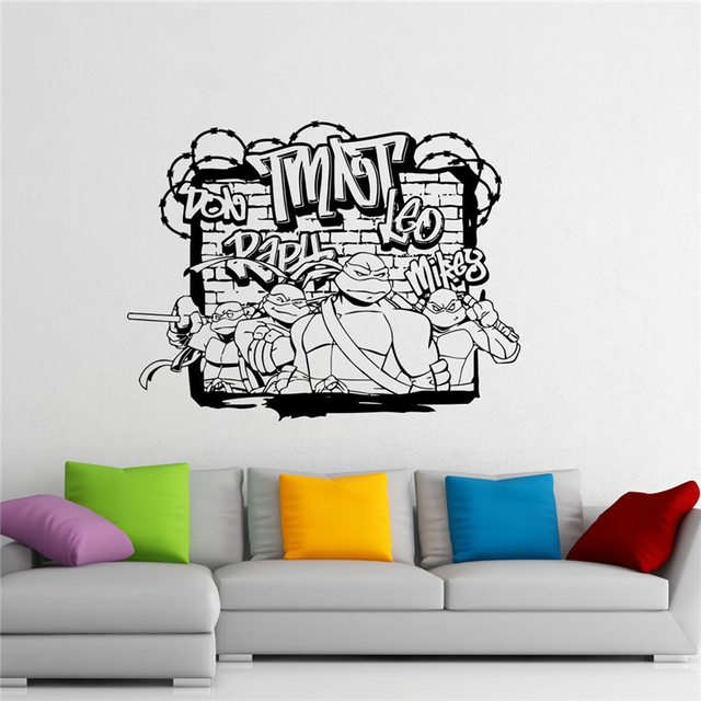 Ninja Turtles Wall Decal TMNT Vinyl Sticker American Comic Book Wall Graphics Home Interior Children Room