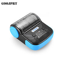 "Envío gratis 3 ""80mm mini impresora de recibos térmicos Bluetooth portátil impresora Bluetooth compatible con Android IOS(China)"