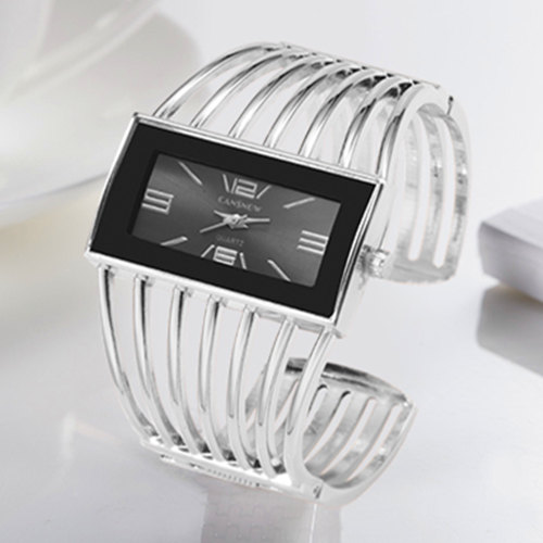 CANSNOW Womens Watch Luxury Fashion Rose Gold Bangle Bracelet Watch Women Dress Clock Female Lady Saati Girls Wristwatch Relojes 2