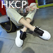HKCP Fashion Sequined platform shoes for women with chunky soles new spring 2019 Korean all-in-one sneakers C044